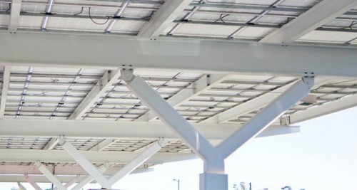 Our expertise goes beyond traditional steel structures to include fabrication services for elevated solar canopies. & Grossi Steel | Solar Canopies